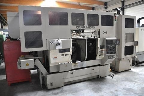 Okuma 2SP-30H, Twin Spindle CNC + gantry robot